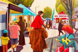 Artwork of downtown street fair